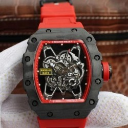 Replica Richard Mille RM035-01 Rafa Forged Carbon Red Dial M9015