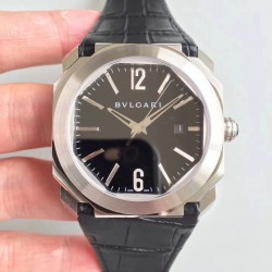 Replica Bvlgari Octo Solotempo 101964 JL Stainless Steel Black Dial Swiss BVL193