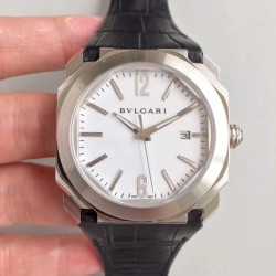 Replica Bvlgari Octo Solotempo 101964 JL Stainless Steel White Dial Swiss BVL193