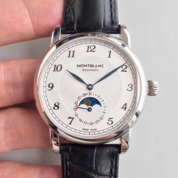 Replica Montblanc Star Legacy Moonphase 42MM U0116508 N Stainless Steel White Dial Swiss MB 24.19