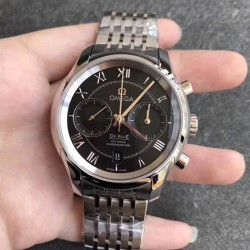 Replica Omega De Ville Co-Axial Chronograph 42MM 431.10.42.51.01.001 OM Stainless Steel Black Dial Swiss 9300