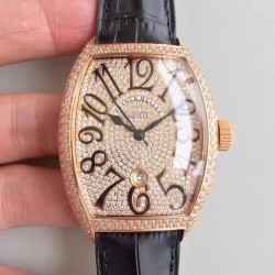 Replica Franck Muller 8880 SC DT FM Rose Gold & Diamonds Diamond Dial M8215