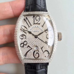 Replica Franck Muller 7880 SC DT FM Stainless Steel & Diamonds Diamond Dial M8215