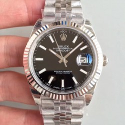 Replica Rolex Datejust II 126334 41MM EW Stainless Steel Black Dial Swiss 3235