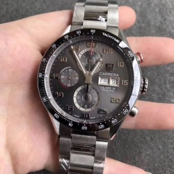 Replica Tag Heuer Carrera Calibre 1887 Day-Date 43MM HBB V6 Stainless Steel Anthracite Dial Swiss Calibre 1887