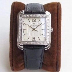 Replica Vacheron Constantin Historiques Toledo 1951 86300 GS Stainless Steel & Diamonds White Dial  M9015