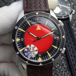 Replica Jaeger-LeCoultre Memovox Tribute to Deep Sea Special Version 2013 Q2028470 AJ Stainless Steel Red Dial M9015