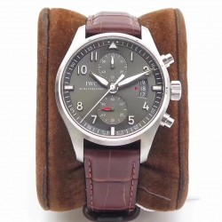 Replica IWC Pilot Spitfire Chronograph IW387802 ZF Stainless Steel Anthracite Dial Swiss 7750