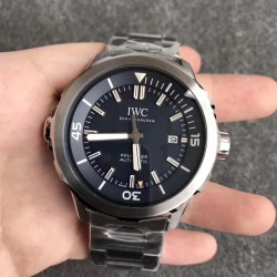 Replica IWC Aquatimer Jacques-Yves Cousteau IW329005 V6 V2 Stainless Steel Blue Dial M9015