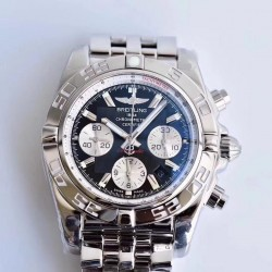 Replica Breitling Chronomat 44 AB011012/B967/375A GF Stainless Steel Black Dial Swiss 7750