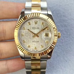 Replica Rolex Datejust II 126333 41MM N Stainless Steel & Yellow Gold Silver Dial Swiss 2836-2