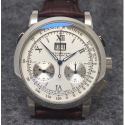 Replica A. Lange & Sohne Datograph Flyback BM Stainless Steel White Dial Swiss Lemania