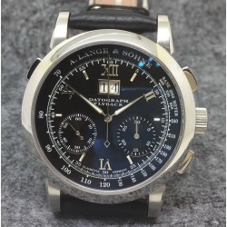 Replica A. Lange & Sohne Datograph Flyback BM Stainless Steel Black Dial Swiss Lemania
