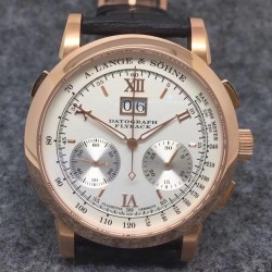 Replica A. Lange & Sohne Datograph Flyback BM Rose Gold White Dial Swiss Lemania