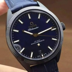Replica Omega Constellation Globemaster 39MM PVD Blue Dial Swiss 8913