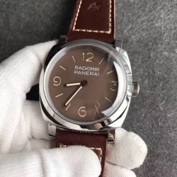 Replica Panerai Radiomir 1940 3 Days Acciaio PAM662 SF Stainless Steel Brown Dial Swiss P3000