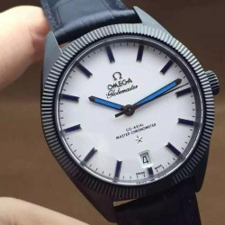 Replica Omega Constellation Globemaster 39MM PVD White Dial Swiss 8900