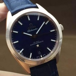 Replica Omega Constellation Globemaster 39MM Rose Gold Blue Dial Swiss 8913