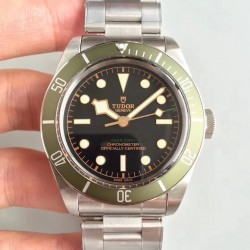 Replica Tudor Heritage Black Bay Green Harrods Special Edition 79230G ZF Stainless Steel Black Dial Swiss 2824-2