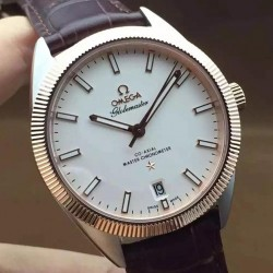 Replica Omega Constellation Globemaster 39MM Stainless Steel & Rose Gold White Dial Swiss 8501