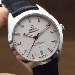 Replica Omega Constellation Globemaster 39MM Stainless Steel White Dial Swiss 8900
