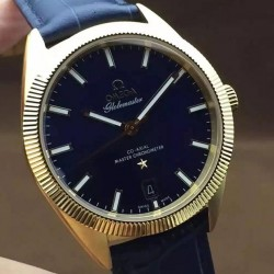 Replica Omega Constellation Globemaster 39MM Yellow Gold Blue Dial Swiss 8501