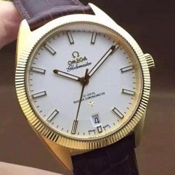 Replica Omega Constellation Globemaster 39MM Stainless Steel White Dial Swiss 8501