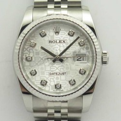 Replica Rolex Datejust 36MM 116234 DJ V2 Stainless Steel Silver Anniversary Jubilee Dial Swiss 3135