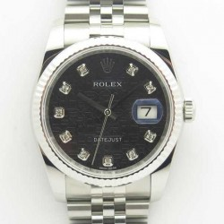 Replica Rolex Datejust 36MM 116234 DJ V2 Stainless Steel Black Anniversary Jubilee Dial Swiss 3135