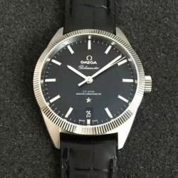 Replica Omega Constellation Globemaster 39MM Stainless Steel Black Dial Swiss 8900