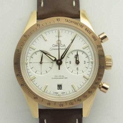 Replica Omega Speedmaster ´57 Co-Axial Chronograph 41.5MM 331.53.42.51.02.002 OM Rose Gold White Dial Swiss 9301