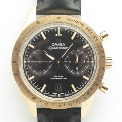 Replica Omega Speedmaster ´57 Co-Axial Chronograph 41.5MM 331.53.42.51.02.002 OM Rose Gold Black Dial Swiss 9301