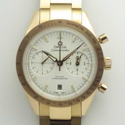 Replica Omega Speedmaster ´57 Co-Axial Chronograph 41.5MM 331.50.42.51.02.002 OM Rose Gold White Dial Swiss 9301