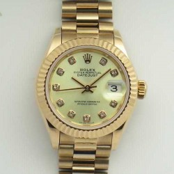 Replica Rolex Lady Datejust 28 279165 28MM BP Rose Gold Yellow Mother Of Pearl Dial Swiss 2671