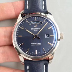Replica Breitling Transocean Day & Date A453109T/C921/731P V7 Stainless Steel Blue Dial Swiis 2836-2