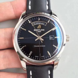Replica Breitling Transocean Day & Date A4531012/BB69/35X V7 Stainless Steel Black Dial Swiis 2836-2