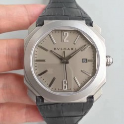Replica Bvlgari Octo Solotempo 101964 JL Stainless Steel Grey Dial Swiss BVL193