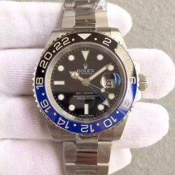 Replica Rolex GMT-Master II 116710BLNR Batman V8 Stainless Steel Black Dial Swiss 3186
