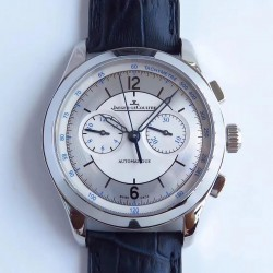 Replica Jaeger-LeCoultre Master Chronograph 1538530 N Stainless Steel White & Silver Dial Swiss 7750