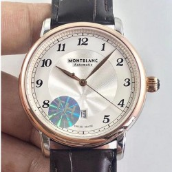 Replica Montblanc Star Legacy Automatic 42MM 117576 TH Stainless Steel & Rose Gold Silver Dial Swiss MB 24.01