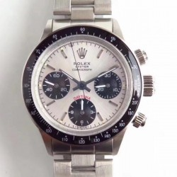 Replica Rolex Daytona Cosmograph Paul Newman 6241 N Stainless Steel Silver Dial Valjoux 72