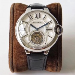 Replica Ballon Bleu De Cartier Flying Tourbillon W6920021 N Stainless Steel Silver Dial Swiss 9452MC