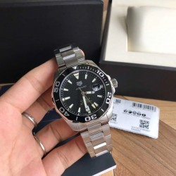 Replica Tag Heuer Aquaracer Calibre 5 WAY201A.BA0927 N Stainless Steel Black Dial Swiss SW200