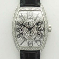 Replica Franck Muller Casablanca 8880 SC DT GF Stainless Steel & Diamonds Diamond Dial Swiss 2824-2