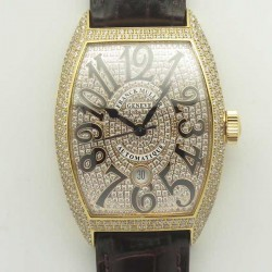 Replica Franck Muller Casablanca 8880 SC DT GF Rose Gold & Diamonds Diamond Dial Swiss 2824-2