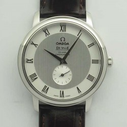 Replica Omega De Ville Prestige Co-Axial Small Seconds 39MM 4813.30.01 TWF Stainless Steel Silver Dial M9015