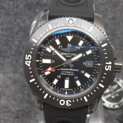 Replica Breitling Superocean II 44MM M1739313/BE92/227S/M20SS.1 GF PVD Black Dial Swiss 2824-2