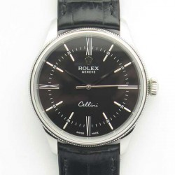 Replica Rolex Cellini 50509 MK V4 Stainless Steel Black Dial Swiss 3132