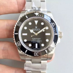 Replica Rolex Submariner 114060 N V8S Stainless Steel Black Dial Swiss 2836-2