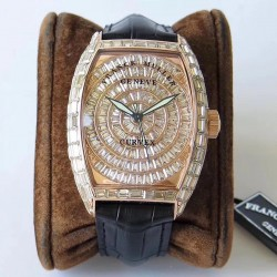 Replica Franck Muller Casablanca 8880 C DT ABF Rose Gold & Diamonds Diamond Dial Swiss 2824-2
